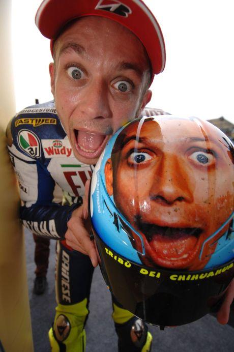 AGV Dainese Valentino Rossi special helmet for Mugello MotoGP race