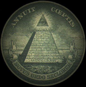 """logo Illuminati, sang """"Iblis Raksasa bermata satu"""" (Dajjal) yang datang menjelang kiamat untuk menguasai dunia dan menebar teror."""